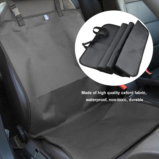 Pet Car Front Seat Cover Protector Waterproof Non Slip Bench Seat Interior Travel Accessory Car Seat Covers Mat With Safety Belt