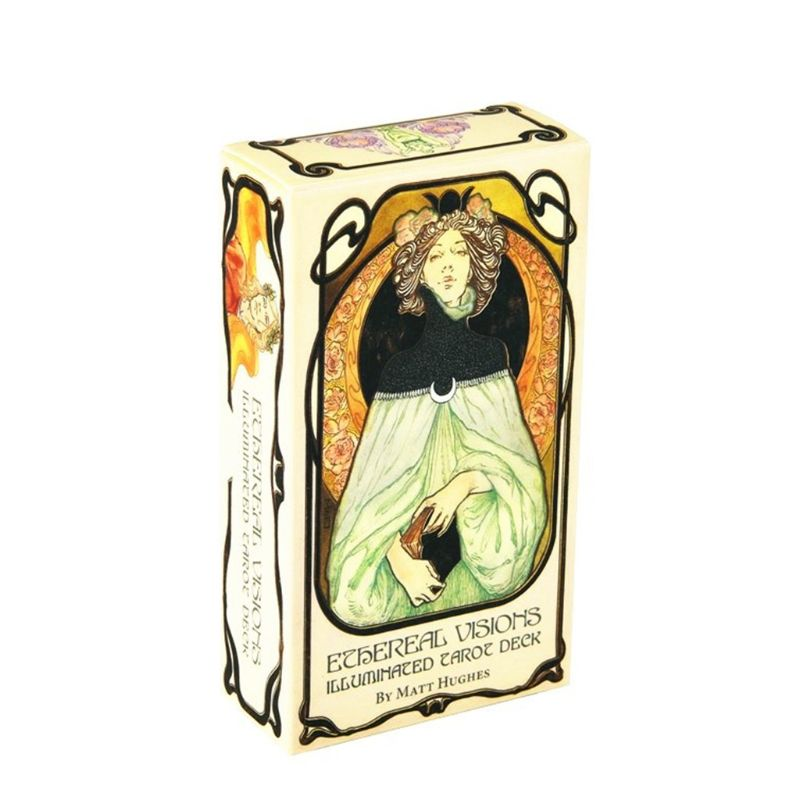 80pcs Ethereal Visions Illuminated Tarot Cards Deck Board Game Playing Card