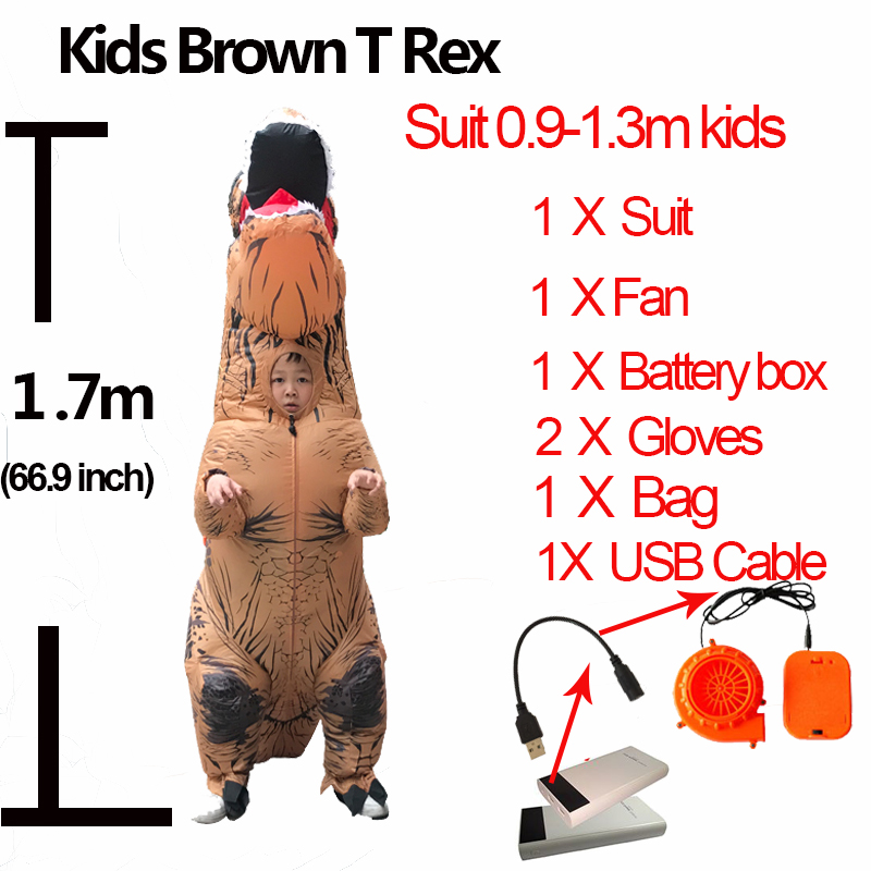Jurassic World 2 Velociraptor Costume Inflatable T REX Dinosaur Costume Halloween Cosplay Adult Fantasy Raptor Mascot Costume