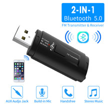 Bluetooth 5.0 Audio-ontvanger Zender Mini Stereo Bluetooth AUX USB 3.5mm Jack Voor TV PC Car Kit Draadloze Adapter auto Radio(China)
