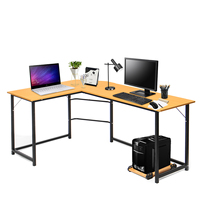 L Shaped Desk Corner Computer Office Desk Home Desk Commercial Furniture Gaming Laptop Study Table Workstation Office Home