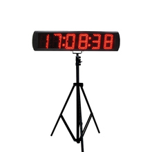 High quality 5 race timer LED digital marathon timing clock with stopwatch