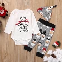 Детский Рождественский комбинезон с Санта-Клаусом для новорожденных мальчиков и девочек, штаны, одежда, наряд «Мой первый день благодарения», ubranka dla niemowlat