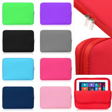 Nieuwe Ontwerp Foam Katoen Laptop Notebook Case 1Pcs Tablet Sleeve Cover Tas Voor Apple Ipad Samsung Galaxy Tab Huawei mediapad(China)