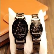цена на NEW High quality Classic luxury alloy band quartz analog Compass wrist watch Xmas Couple gift