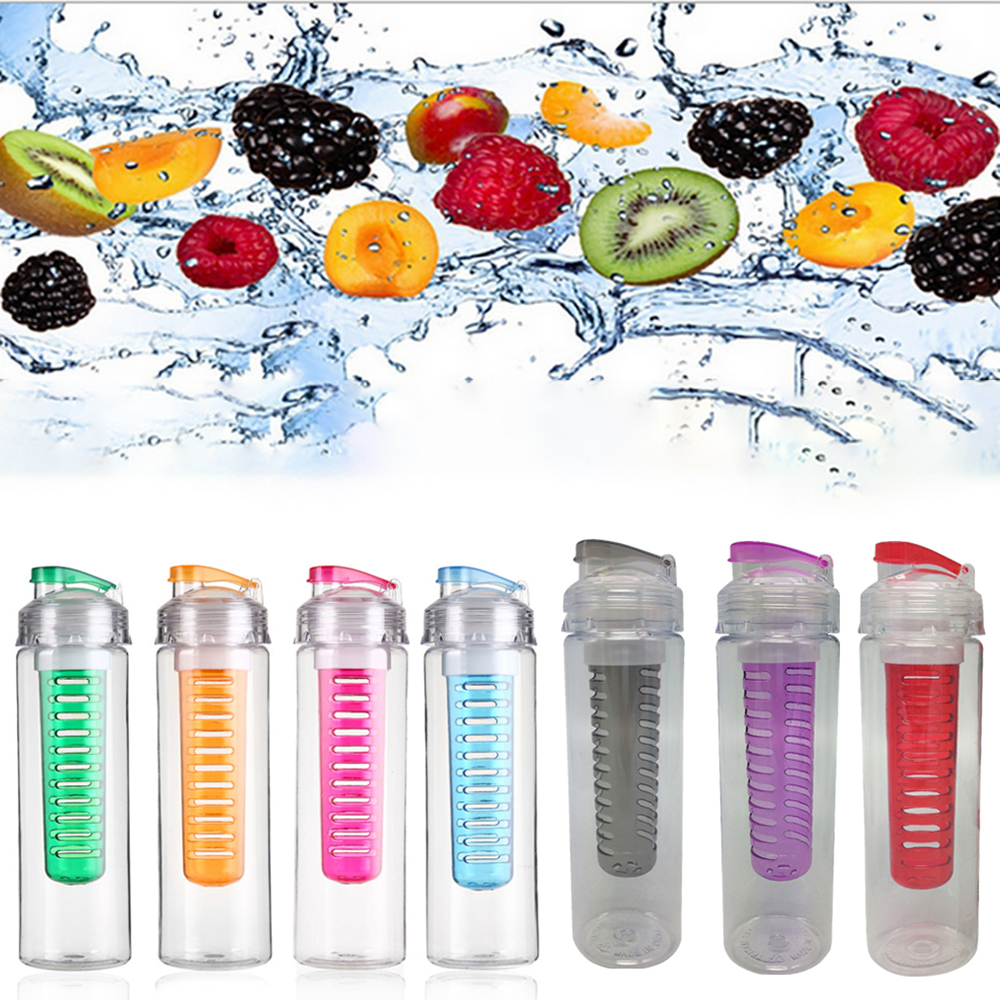 Sports Water Bottles 700ML Leak-proof Seal Nozzle Water Bottle with Cover Filter Tea Cup Mug Space Cup Multicolor Convenience