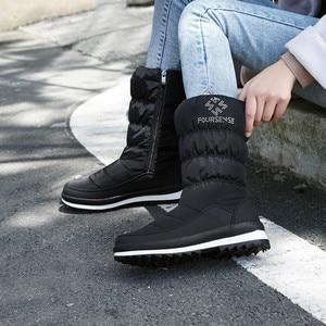 Image 5 - FEDONAS الدافئة مريحة الإناث الشقق منصة الثلوج الأحذية الشتاء جديد سستة النساء منتصف العجل الأحذية مكتب عادي الأساسية أحذية امرأة