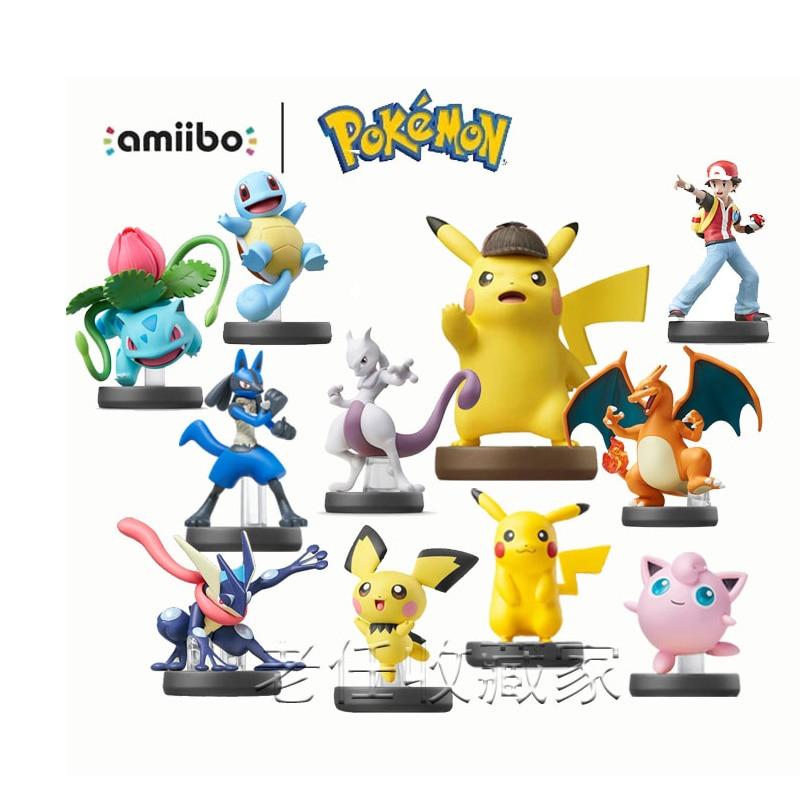 Nintendo Amiibo Pokemon Trainer Greninja Lucario фигурка Pichu фигуры Super удар Bros. Серия