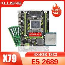Kllisre X79 שבבים האם עם LGA2011 שילובי Xeon E5 2689 מעבד 4pcs x 4GB = 16GB זיכרון DDR3 ECC RAM 1333Mhz