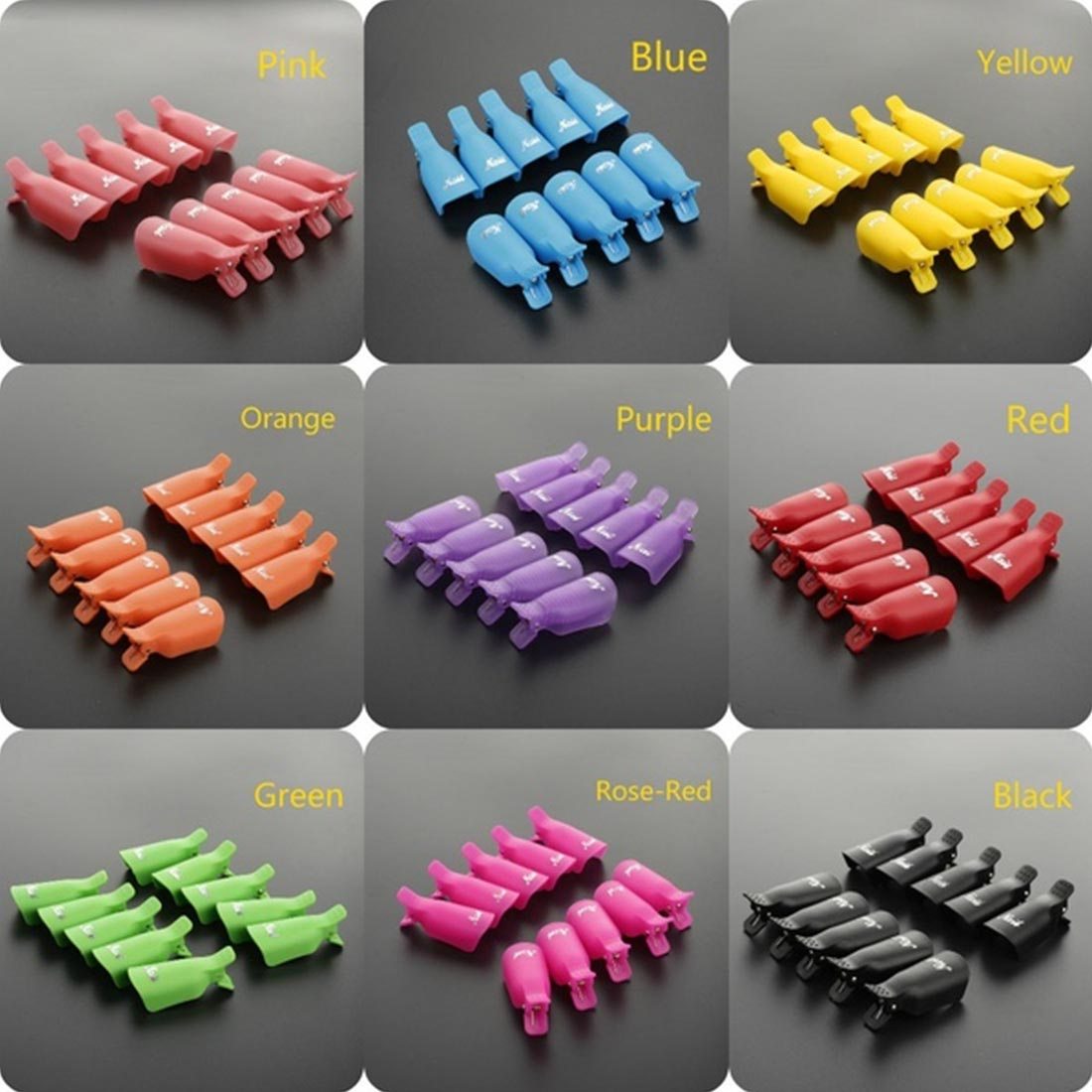 Image 4 - 10pcs UV Gel Remover Cap Clips for Gel Varnish Degreaser for Nails Manicure Clamps Plastic Acrylic Nail Art Soak Off Clip Cap-in Nail Polish Remover from Beauty & Health