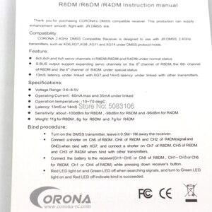 Image 5 - קורונה R6DM SB 2.4GHZ DMSS 6CH תואם מקלט משמש JR DMSS משדרים, כגון XG6 XG7 XG8 XG11 XG14