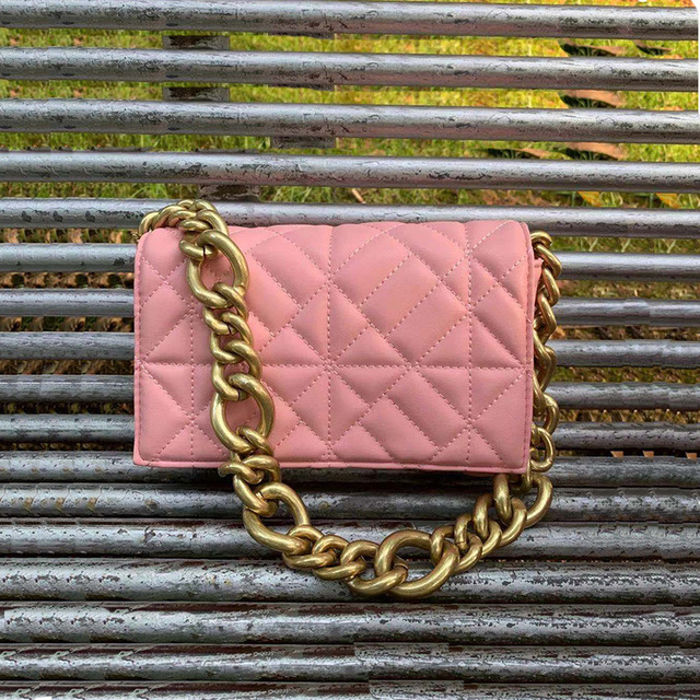 Branded Women's Shoulder Bags 2020 Thick Chain Quilted Shoulder Purses And Handbag Women Clutch Bags Ladies Hand Bag 3