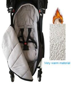 Image 5 - אוניברסלי תינוק עגלת אביזרי חורף גרבי שינה תיק Windproof חם Sleepsack תינוק Pushchair Footmuff עבור Babyzen yoyo