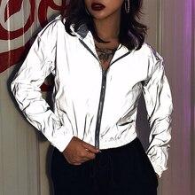 2020 Full Reflective Jackets Women Personality Windbreaker J