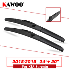 KAWOO For Kia Sorento Car Soft  Natural Rubber Clean The Windshield Wipers Blades Model Year From 2018 2019 Fit U Hook Arm