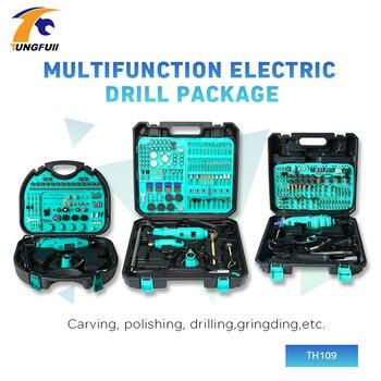 Herramienta rotativa Dremel de Tungfull de 30000RPM, conjunto de accesorios Dremel, Mini amoladora eléctrica, minicargador, tallado, pulido, corte