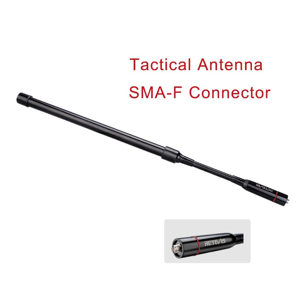 Retevis HA03 Handheld Foldable Tactical Antenna Bendable SMA-F Walkie Talkie Antenna For Baofeng UR-5R UV-82 Ailunce HD1 H777