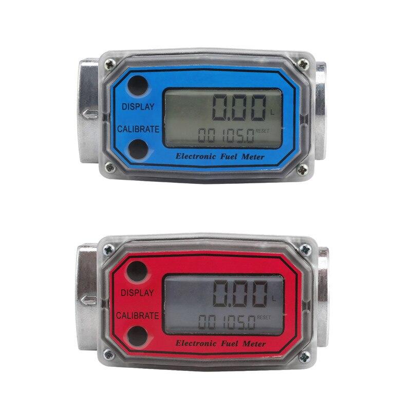 Débitmètre de carburant Diesel 10-120L de débitmètre de Turbine de débitmètre numérique d'affichage à cristaux liquides de LLW-25 pour des produits chimiques