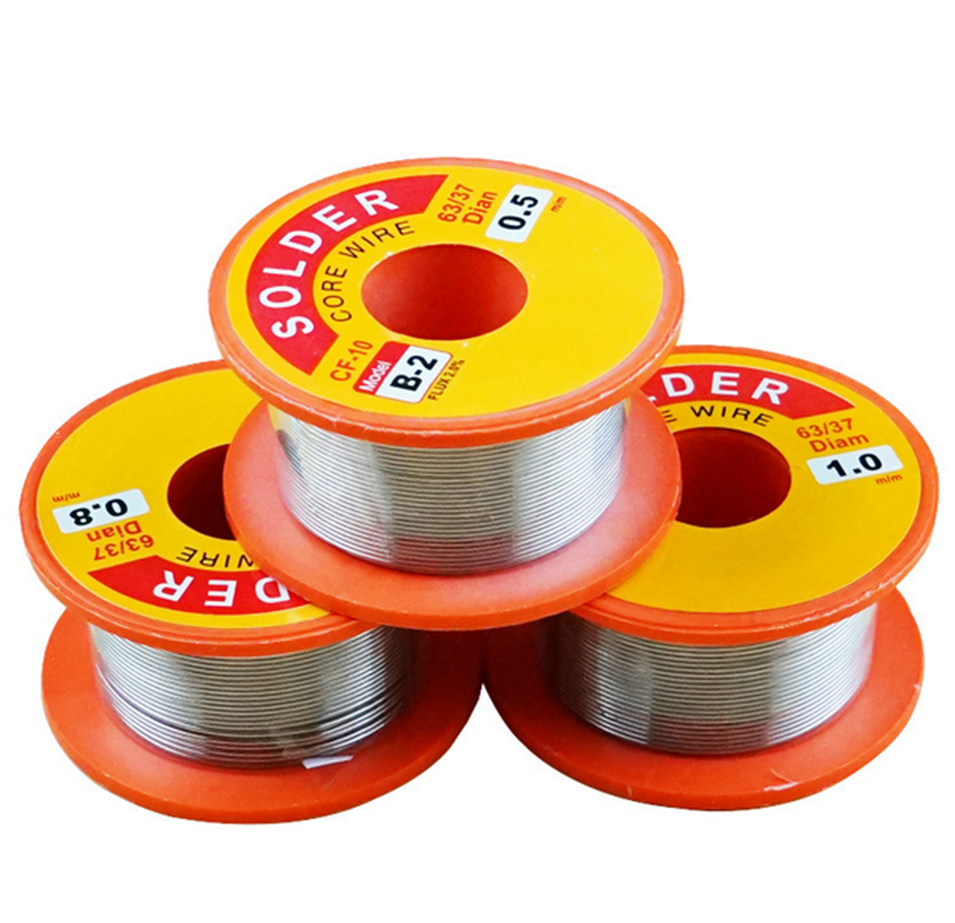 2020 NEW 0.8/1.0MM 63/37 FLUX 1.2% / 2.0% 45FT Tin Lead Tin Wire Melt Rosin Core Solder Soldering Wire Roll