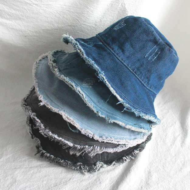 Chapeau de pêcheur en Denim unisexe coupe-vent | Casquette Bob, casquettes Hip Hop Gorros hommes femmes, Panama chaud chapeau seau