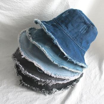 New Denim Fisherman's Hat Bucket Hat Unisex Fashion Bob Caps Hip Hop Gorros Men Women Panama Warm Windproof Bucket Hat Outdoor