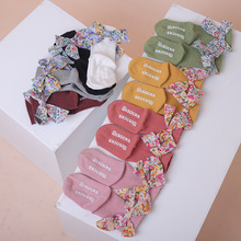 Baby Socks Newborn Anti-Slip Winter Cute Autumn Floor Big Floral Bowkont