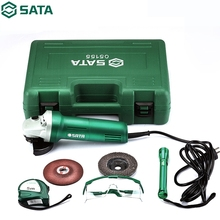 цена на SATA 8pcs Multifunction Angle Grinder Kit 220V Household 750W Wheel Cutting Machine Polishing Grinder