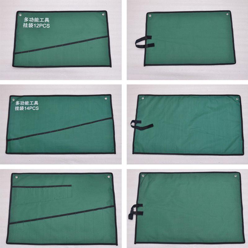 Pockets Spanner Wrench Roll Up Storage Organizer Bag