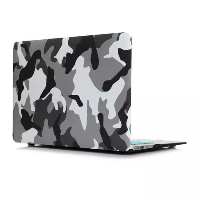 Camouflage Series Pattern Laptop Cases for Macbook Air Pro Retina 11 13 15Inch Mac Book Protective Case Cover with Radiator Hole