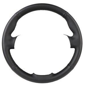 Image 2 - Trenzado de cuero Artificial para volante de coche, funda de dirección personalizada para Toyota RAV4 2013 2018 Toyota Corolla 2003 2015 Scion