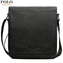 VICUNA POLO Causal Business Man Bag High Quality Leather Messenger Bags For Men With Top Flap Classic Design Shoulder Bag