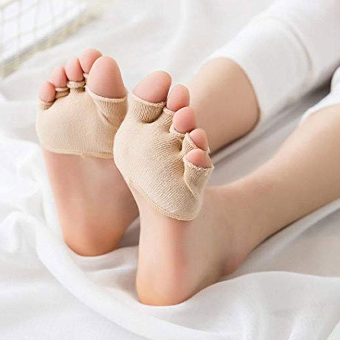 half palm five finger socks ladies cotton invisible summer thin half clip high heel breathable front foot five finger socks slip in Sock Slippers from Underwear Sleepwears