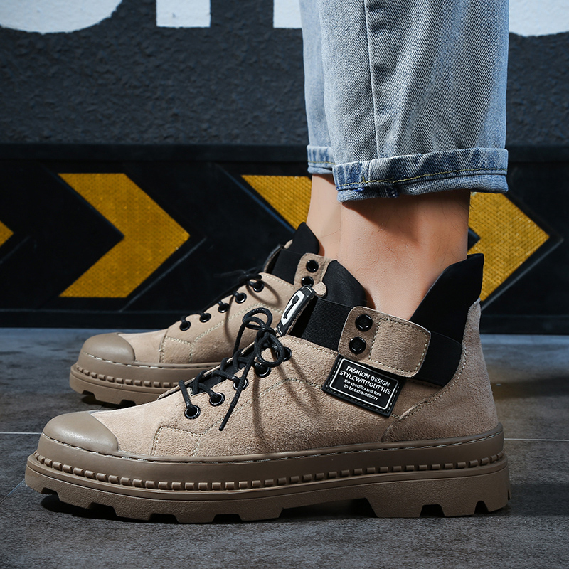 Autumn Extra Large Desert Boots Men Low Men 39 s Shoes Plus Fat Casual Tooling Short Boots Size 38 47 in Basic Boots from Shoes