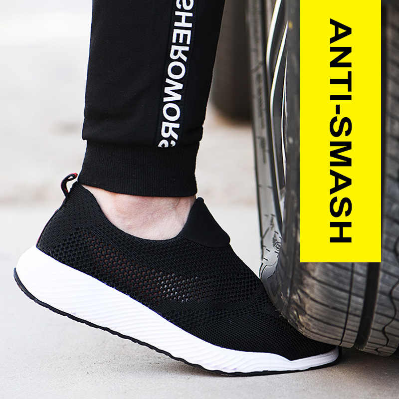 Mannelijke Schoenen Volwassen Werk Veiligheid Boot Stalen Neus Veiligheid Schoenen Mannen Werken Schoenen Licht Mannen Laarzen Werken Anti-Lek onverwoestbaar Schoenen