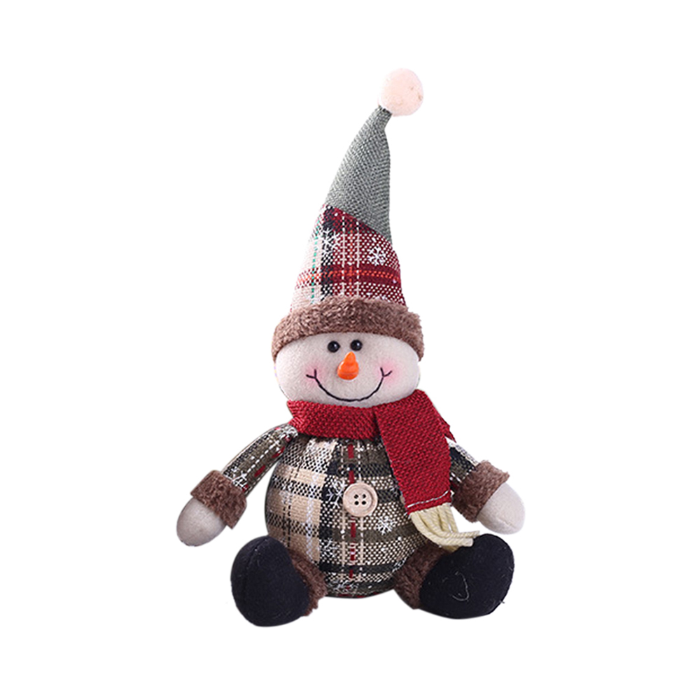 Lovely Christmas Santa Snowman Elk Doll Toys Christmas Tree Hanging Ornament  Party New Year Christmas Decor For Home