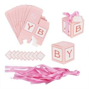 Image 5 - WEIGAO 20 個/40 個クラフト紙キャンディーボックスのベビーシャワーのギフトゲスト誕生日パーティー Babyshower 少年少女ギフトバッグパーティー用品