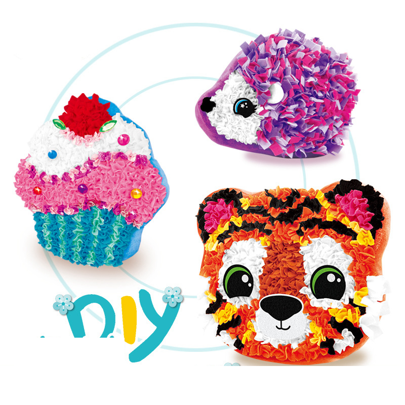 DIY Material Package Making Children Pillow Toys Handmade Animal Tiger Creative Plush Toys Parent-Child Interative Toys