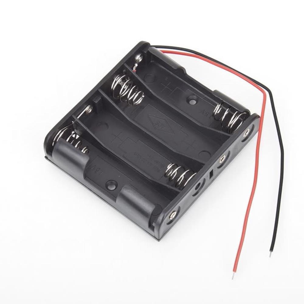 20pcs lot MasterFire 20pcs/lot 6 x AA Size Battery Storage Case Box Holder Leads With 4 Slots AA Size Power Batteries Storage Case Box (2)