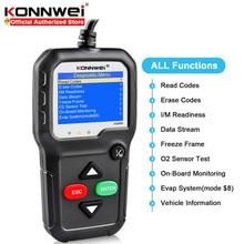 Konnwei kw680s odb2 carro ferramenta de diagnóstico do motor leitor código falha dispositivo scanner automotivo eobd obdii leitor código verificador motor