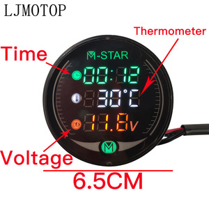 Image 5 - Motorcycle Voltmeter Clock Thermometer Digital Display Meter Sensor For Triumrh SPEED TRIPLE 1050 GT RS SRINT ST STREET TWIN