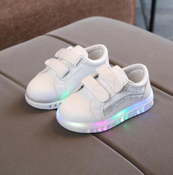 Child Shoes  Sport Spring Luminous Fashion Breathable Kids Boys Net Shoes With Light Running Shoes Girls Anti-Slippery Sneakers