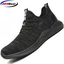 DEWBEST рабочие, анти-клещи, ударопрочные, дышащие, стильные защитные спортивные ботинки, защитные ботинки обувь для мужчин