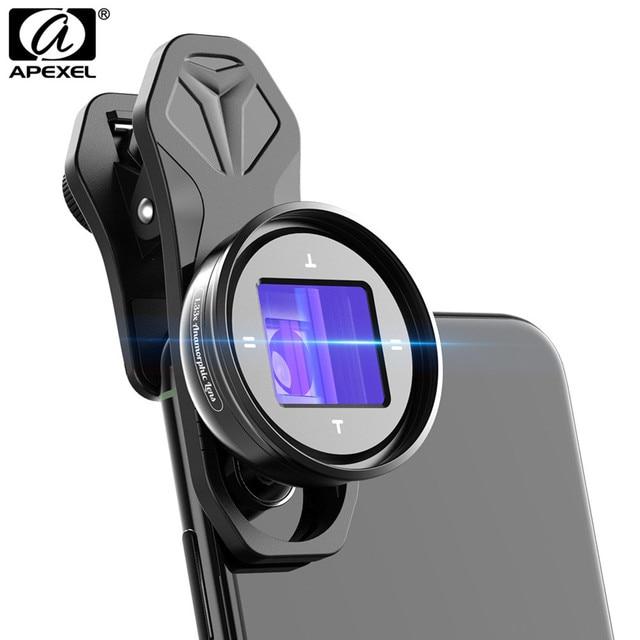 APEXEL 2020 Più Nuovo 1.33X Obiettivo Anamorfico Widescreen Videocamere Lente Vlog Le Riprese di Film Deformazione HD Del Telefono Mobile Dellobiettivo di Macchina Fotografica