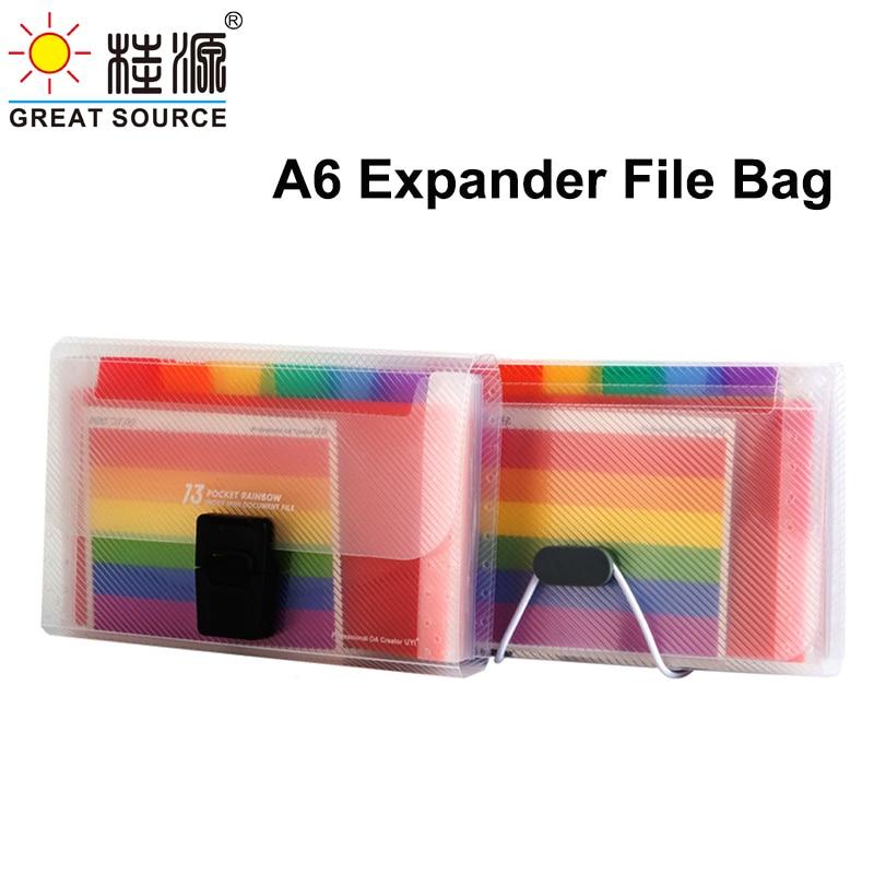 Expanding File Folder 12 Layers File Organiser Portable Bag A6 File Storage 178*105*30mm(L7.01