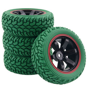 Image 4 - RC 701A 8019 Rubber Tire&Plastic Wheel Rim For HSP HPI 1/16 On Road Rally Car