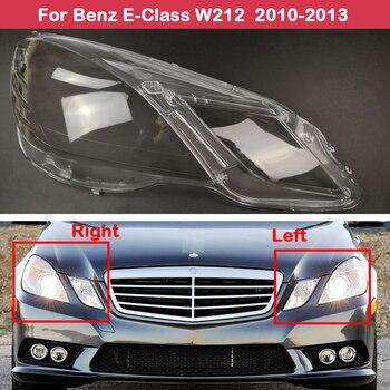 цена на Car transparent headlights glass lamp E260 E350 E400 E500 E550 shade shell lamp cover For Mercedes-Benz E-Class W212 2010-2013