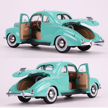 1:18 1939 Alloy Diecast Classic Car Model Simulation Retro Collection Metal Vehicle Toy Collectible Traffic Artwork for Car Fans new arrival gift pnmr 1 18 large metal model car sport drive model scale alloy collection vehicle toys car pro fans show