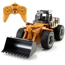 Huina Rc Bulldozer Rc Model Man Truck Radiocontrol 1:18 Toys for Boys Off-road Remote Control Truck Toy Remote Control Car