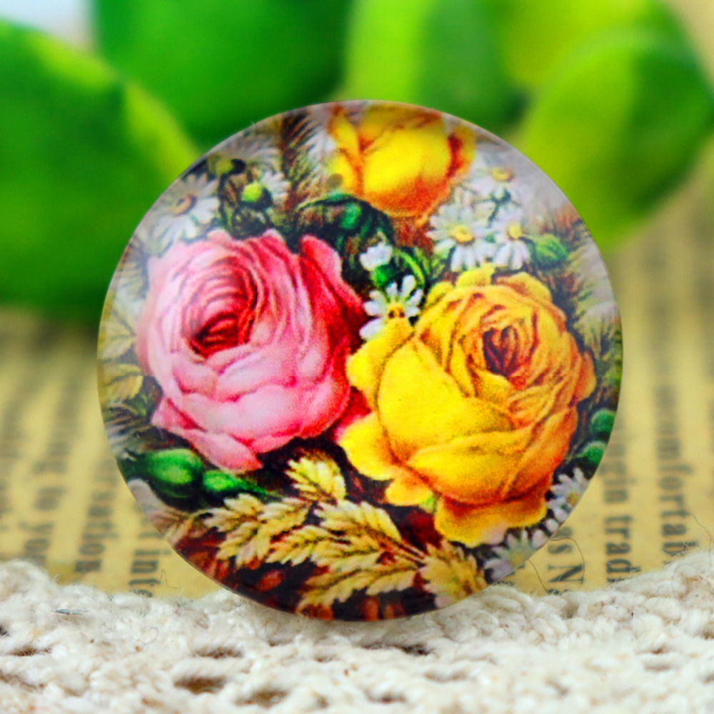 New Fashion  5pcs/Lot 25mm  Handmade Photo Glass Cabochons