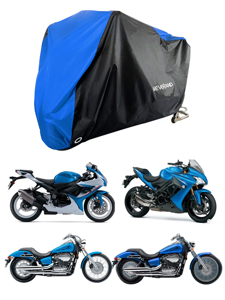 Cover Motors Dust-Rain D45 Waterproof Outdoor Uv-Protector 190T XXXL Black Blue-Design